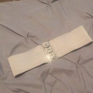Wide high waisted belt